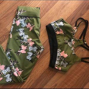 NWOT Floral Activewear Set